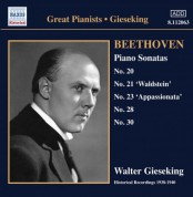 Walter Gieseking: Beethoven: Piano Sonatas Nos. 20, 21, 23, 28 and 30 - CD