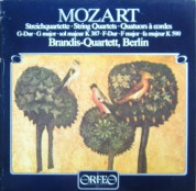 Brandis Quartet: Mozart: String Quartets KV 387&590 - Plak