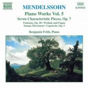 Mendelssohn: 7 Characteristic Pieces, Op. 7 / Fantasia, Op. 28 - CD