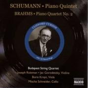 Schumann: Piano Quintet, Op. 44 / Brahms: Piano Quartet No. 2 (Curzon, Budapest Quartet) (1951-1952) - CD