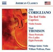 Philippe Quint: Corigliano: Red Violin Caprices (The) / Violin Sonata / Thomson, V.: 5 Ladies / Portraits - CD