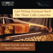 Hidemi Suzuki, Bach Collegium Japan: C.P.E. Bach: The Three Cello Concertos - CD