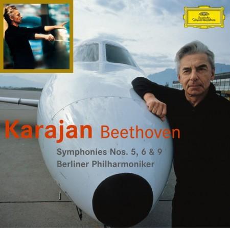 Agnes Baltsa, Berliner Philharmoniker, Herbert von Karajan, Peter Schreier, Anna Tomowa-Sintow, José van Dam, Wiener Singverein: Beethoven: Symphonien No. 5, 6, 9 - CD