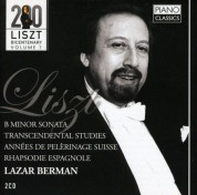 Lazar Berman: Liszt: B Minor Sonata, Transcendental Studies, Annees de Pelerinage Suisse, Rhapsodie Espagnol - CD