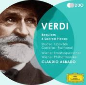 José Carreras, Claudio Abbado, Konzertvereinigung Wiener Staatsopernchor, Marjana Lipovšek, Ruggero Raimondi, Cheryl Studer, Wiener Philharmoniker: Verdi: Requiem, 4 Sacred Pieces - CD
