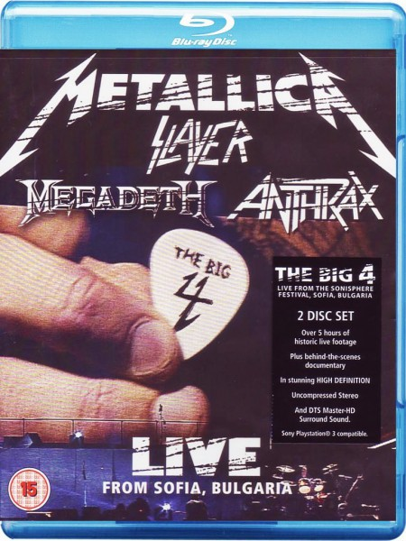 Metallica, Slayer, Megadeth, Anthrax: The Big Four: Sonisphere Live From Sofia Bulgaria - BluRay