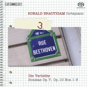 Ronald Brautigam: Beethoven: Complete Works for Solo Piano, Vol. 3 on forte-piano - SACD
