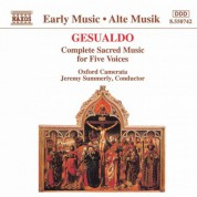 Gesualdo: Sacred Music for Five Voices (Complete) - CD