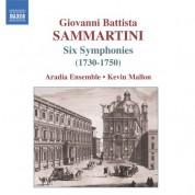 Sammartini, G.B.: Symphonies J-C 4, 9, 16, 23, 36, 62 - CD