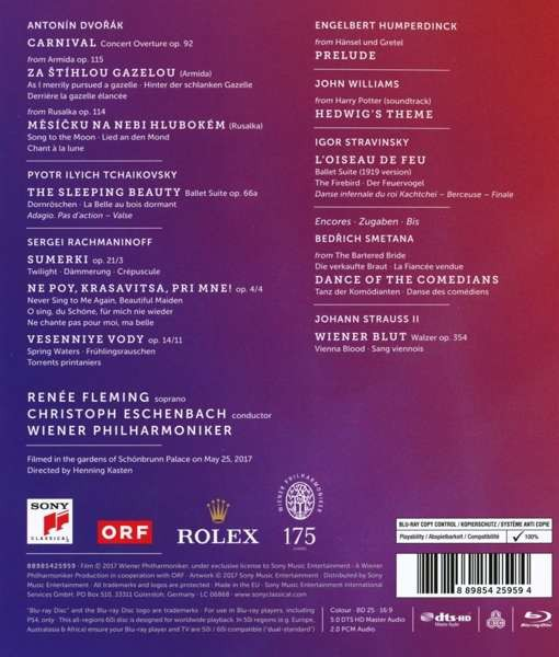 Summer Music Concert 2017: Wiener Philharmoniker, Renée Fleming, Christoph Eschenbach