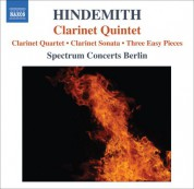 Spectrum Concerts Berlin: Hindemith, P.: Quartet for Clarinet and Piano Trio / Clarinet Sonata / 3 Leichte Stucke / Clarinet Quintet - CD