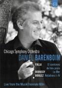 Daniel Barenboim, Chicago Symphony Orchestra: Barenboim and the Chicago Symphony Orchestra (Falla, Debussy, Boulez) - DVD