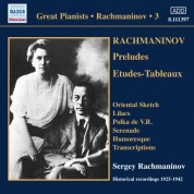 Sergey Vasilievich Rachmaninov: Rachmaninov: Piano Solo Recordings, Vol. 3 - CD