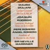 Pepe Romero, Ángel Romero, Sir Neville Marriner, Academy of St. Martin in the Fields: Giuliani, Rodrigo: Guitar Concerto No. 1, Concierto Madrigal - SACD