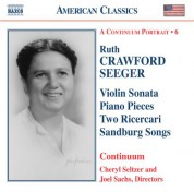 Seeger: Vocal, Chamber and Instrumental Works - CD