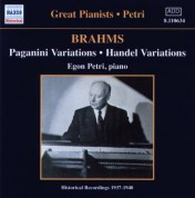 Brahms: Paganini and Handel Variations (Petri) (1937-1940) - CD