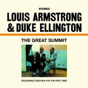 Louis Armstrong, Duke Ellington: The Great Summit + 1 Bonus Track! - Limited Edition in Transparent Blue Colored Vinyl. - Plak