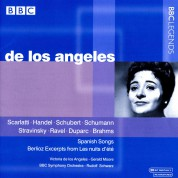 Victoria de los Angeles, Gerald Moore: Scarlatti, Handel, Schubert, Schumann, Stravinsky, Ravel, Duparc, Brahms, Berlioz & Spanish Songs - CD