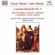 San Petronio Cappella Musicale Soloists: Lamenti Barocchi, Vol. 3 - CD