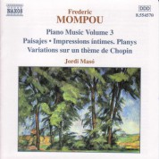 Jordi Masó: Mompou, F.: Piano Music, Vol. 3  - Paisajes / Impressions Intimes / Variations - CD