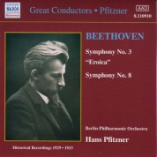 Beethoven: Symphonies Nos. 3 and 8 (Pfitzner) (1929-1933) - CD