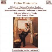 Takako Nishizaki, Jenö Jandó: Violin Miniatures - CD