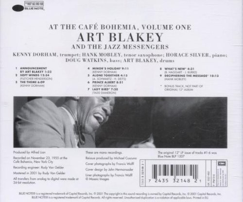Softwindsjazz Responsive: Art Blakey & The Jazz Messengers: At The Cafe Bohemia Vol