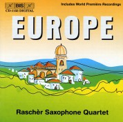 Rascher Saxophone Quartet: Europe -  Music for Saxophone Quartet - CD