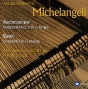 Arturo Benedetti Michelangeli, Philharmonia Orchestra, Ettore Gracis: Ravel/ Rachmaninov: Piano Concertos - CD