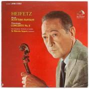 Jascha Heifetz, New Symphony Orchestra of London, Sir Malcolm Sargent: Bruch: Scottish Fantasy/ Vieuxtemps: Violinconcerto No. 5 (200g-edition) - Plak