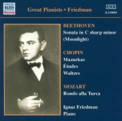 Beethoven: 'Moonlight' Sonata / Chopin: Mazurkas (Friedman) (1923-1926) - CD
