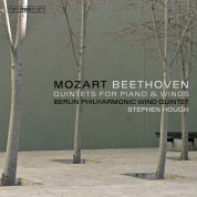 Stephen Hough, Berlin Philharmonic Wind Quintet: Mozart & Beethoven: Quintets for Piano & Winds - CD