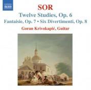 Goran Krivokapic: Sor, F.: 12 Studies, Op. 6 / Fantasia No. 2, Op. 7 / 6 Divertimentos, Op. 8 - CD