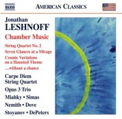 Carpe Diem String Quartet, Opus 3 Trio: Leshnoff: Chamber Music - CD