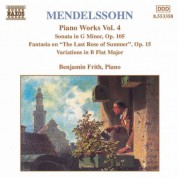 Mendelssohn: Sonata in G Minor / Fantasia, Op. 15 /  Variations, Op. 83 - CD