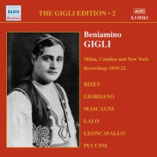 Gigli, Beniamino: Gigli Edition, Vol.  2: Milan, Camden and New York Recordings (1919-1922) - CD