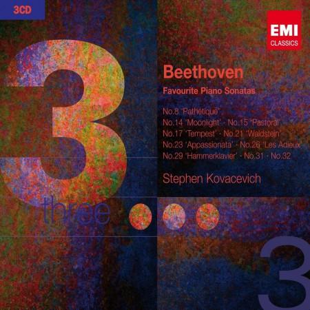 Stephen Kovacevich: Beethoven: Favourite Piano Sonatas - CD
