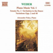 Weber: Piano Music, Vol. 1 - CD