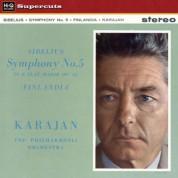 Herbert von Karajan, The Philharmonia Orchestra: Sibelius: Symphony 5, Finlandia - Plak
