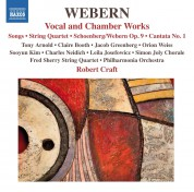 Robert Craft: Webern: Vocal and Chamber Music - CD