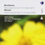 elen Huang, New York Philharmonic Orchestra, Kurt Masur: Beethoven/ Mozart: Piano Concerto No. 1/ Piano Concerto No. 23 - CD