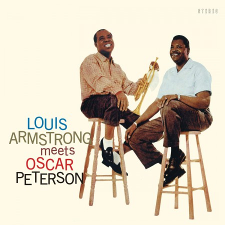 Louis Armstrong Meets Oscar Peterson - Limited Edition In Solid Blue Colored Vinyl. - Plak