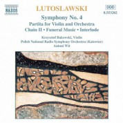Polish National Radio Symphony Orchestra, Antoni Wit: Lutoslawski: Symphony No. 4 / Violin Partita / Chain II / Funeral Music - CD