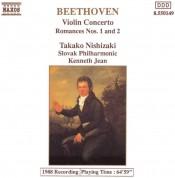 Takako Nishizaki, Slovak Philharmonic, Kenneth Jean: Beethoven: Violin Concerto, Romances 1&2 - CD