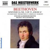 Helmut Muller-Bruhl: Beethoven: Symphony No. 3 / Prometheus Overture / Coriolan Overture / Egmont Overture - CD