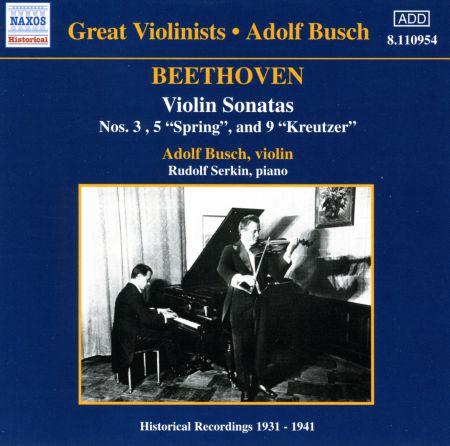 Beethoven: Violin Sonatas (Busch) (1931-1941) - CD
