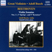 Beethoven: Violin Sonatas (Busch) (1931-1941) - CD