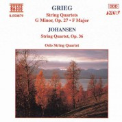 Grieg: String Quartets Nos. 1 and 2 / Johansen: String Quartet Op. 35 - CD