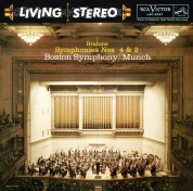 Charles Munch, Boston Symphony Orchestra: Brahms: Symphonies No. 4 in E Minor, Op. 98 & No. 2 in D Major, Op. 73 - CD