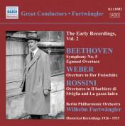 Wilhelm Furtwängler: Beethoven, L. Van: Symphony No. 5 / Egmont Overture / Weber, C.M. Von: Der Freischutz Overture (Furtwangler, Early Recordings, Vol. 2) (1926-1935) - CD